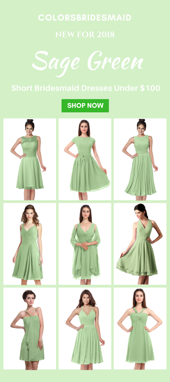 Sage Green Bridesmaid Dresses In Short Style For Sale Green Bridesmaid Dresses Short Knee Length Bridesmaid Dresses Green Bridesmaid Dresses
