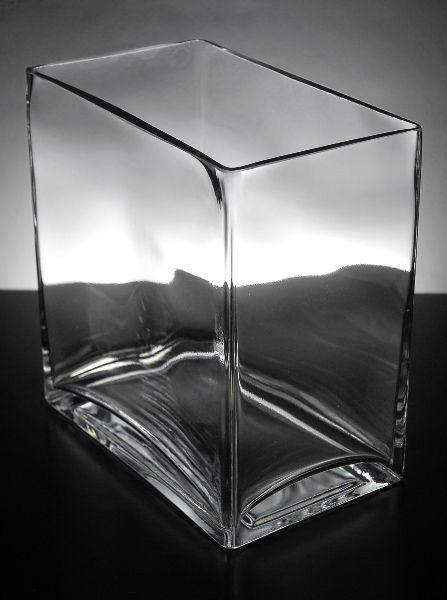 1299 Rectangular Glass Vase 8 Tall 75 Wide 45 Deep Not Sure