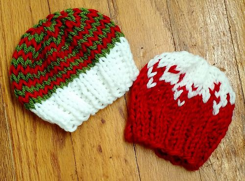 Using large needles with worsted yarn makes this hat very quick to ...