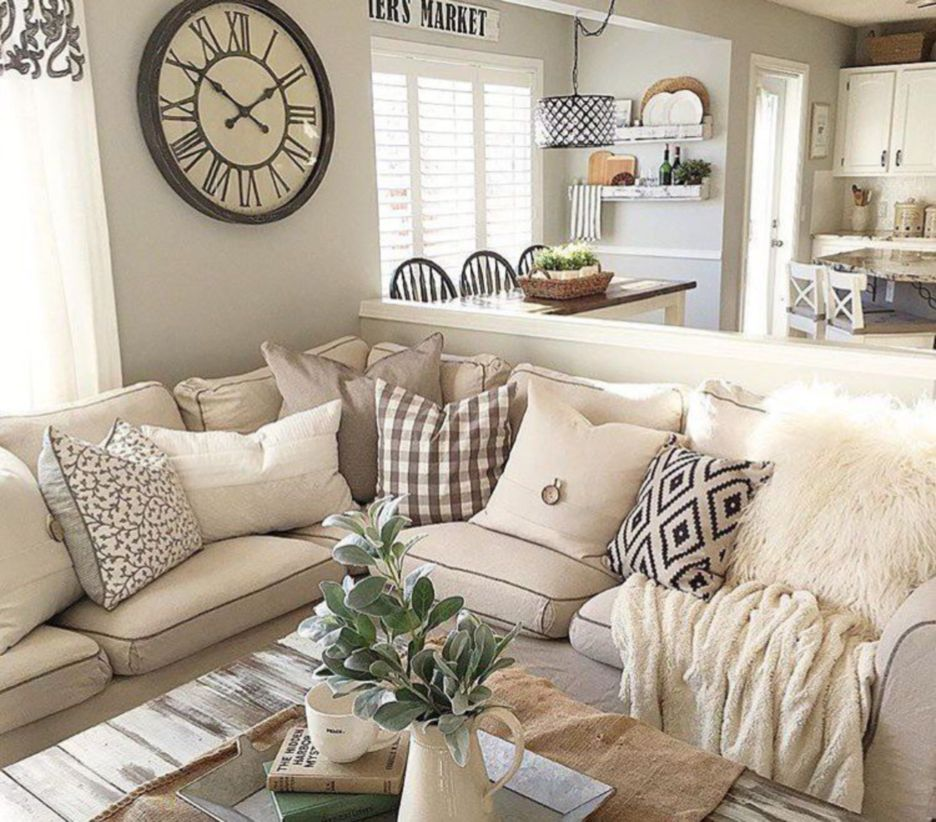 45 farmhouse decorating style ideas for living room and
