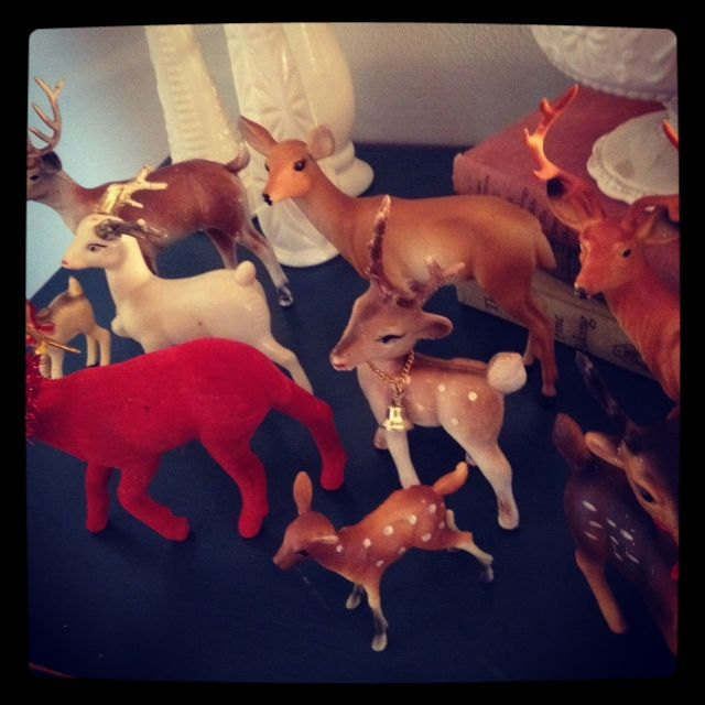 My vintage deer collection   Binks and the Bad Housewife: it's beginning to look a lot like christmas