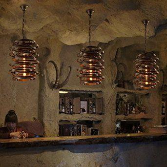 mezzanine lustre bar restaurant créatif café, des lustres en fer ...