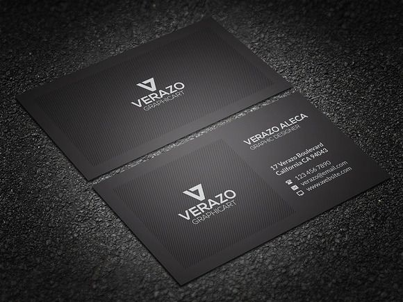 Clean corporate business card corporate business business cards clean corporate business card by verazo on creative market colourmoves Images