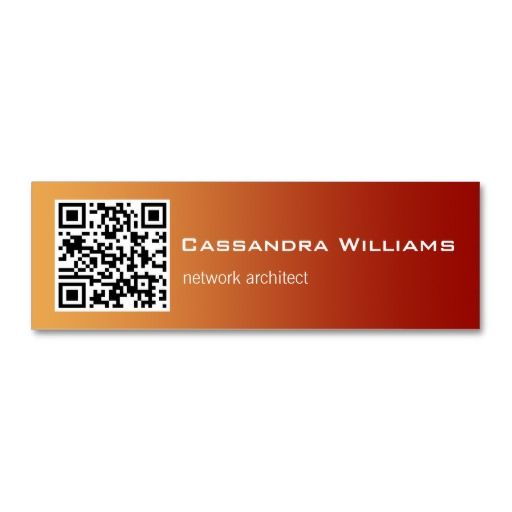 Red ombre qr code mini business cards red ombre qr codes and red ombre qr code mini business cards wajeb Images