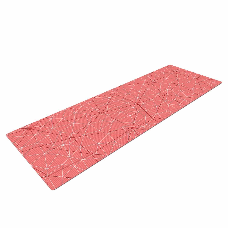 "Michelle Drew ""Wanderlust Pink Skies"" Coral Geometric Yoga Mat"
