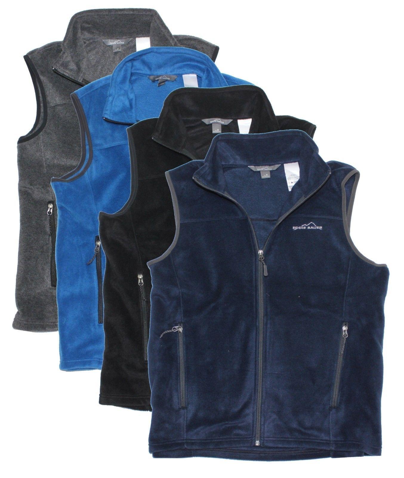 Flannel jacket with wool lining  Eddie Bauer menus fleece vest  Menus Autumn and Winter fashions for