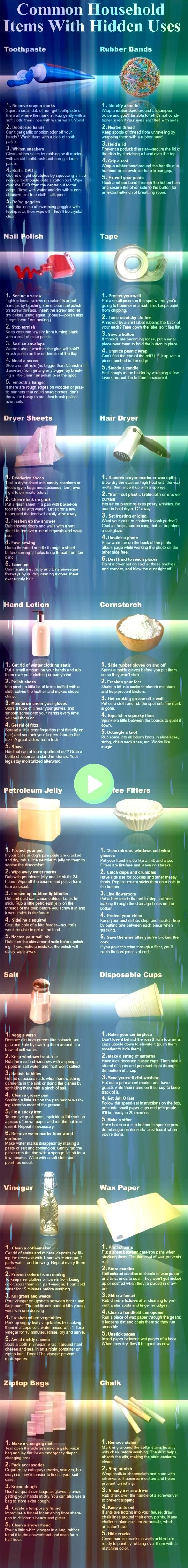 household items with hidden uses diy diy ideas easy diy how to remedies remedy tips tutorials life hacks life hack money saving good to knowCommon household items with hi...