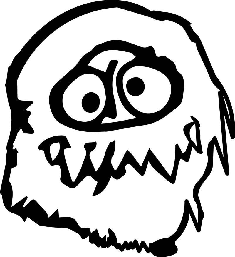 Abominable Snowman Face Coloring Page