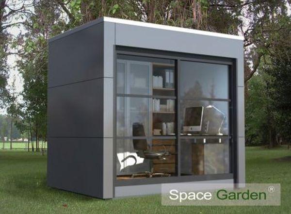 Prefabricated Version Of An Outdoor Office. SpaceGarden