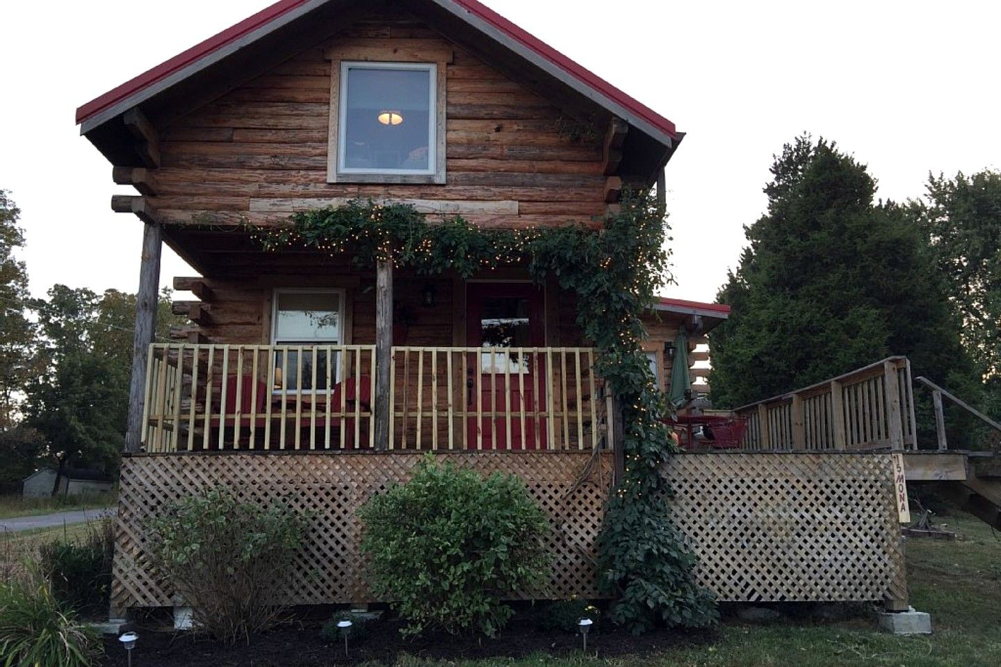 Idyllic Log Cabin Rental With Views Of Lake Of Egypt In Southern Illinois
