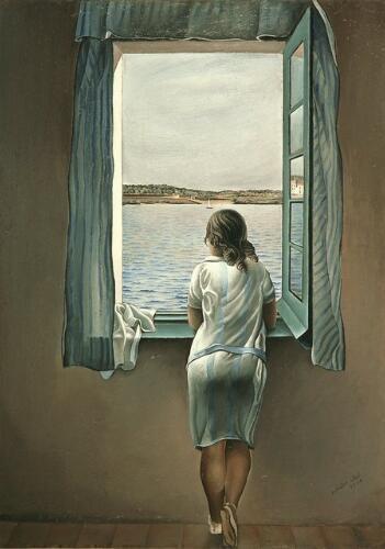 Salvador Dali - Woman at the Window - Salvador Dali Woman at the Window Famous Painting Prints LOLA DOO