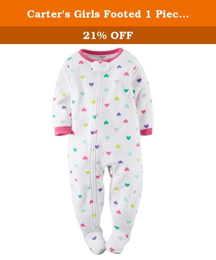 eff620808 Carter s Girls Footed 1 Piece Fleece Sleeper Pajamas (7