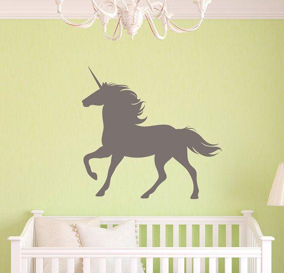 Unicorn Silhouette Vinyl Wall Decal Nursery Decor. by VinylMyWalls ...