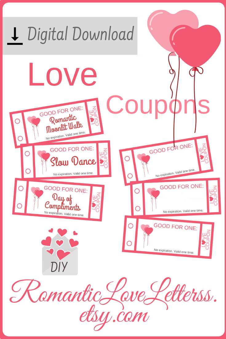 Printable Love Coupons With Romantic Date Ideas For Couples Couples Coupons Date Ideas Lo In 2020 Coupon Book Diy Love Coupons 1st Wedding Anniversary Gift For Him