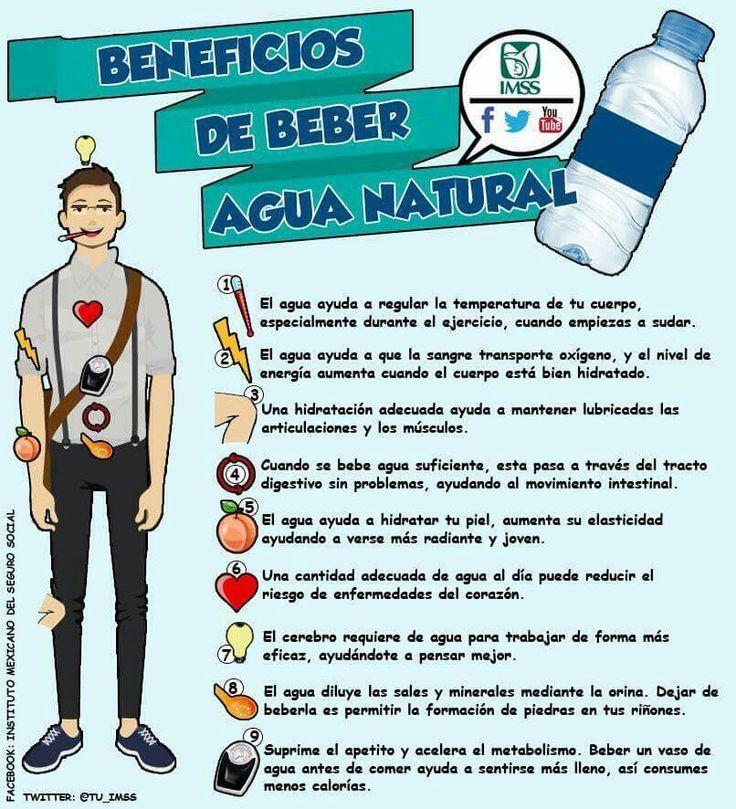 beneficios tomar agua natural