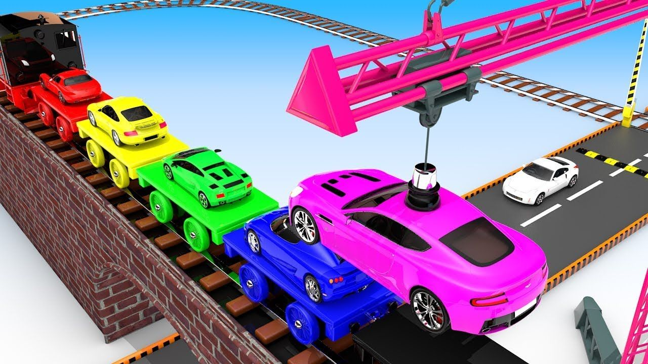 Colors For Children To Learn With Toy Super Cars With Toy