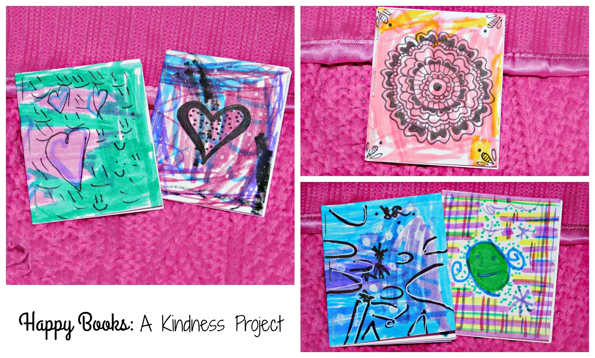 Happy Books: A Kindness Project was started in December 2014 by my family. We decided to make tiny inspirational quote books to brighten other's days! We leave them all sorts of places in our community for other people to find! We trust that they always find exactly who needs the positive message! Join our project at facebook.com/groups/peacelovepositivity