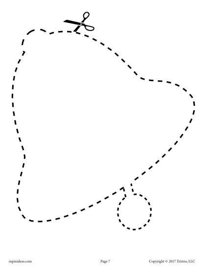 10 Printable Christmas Shapes Cutting Worksheets Freebies