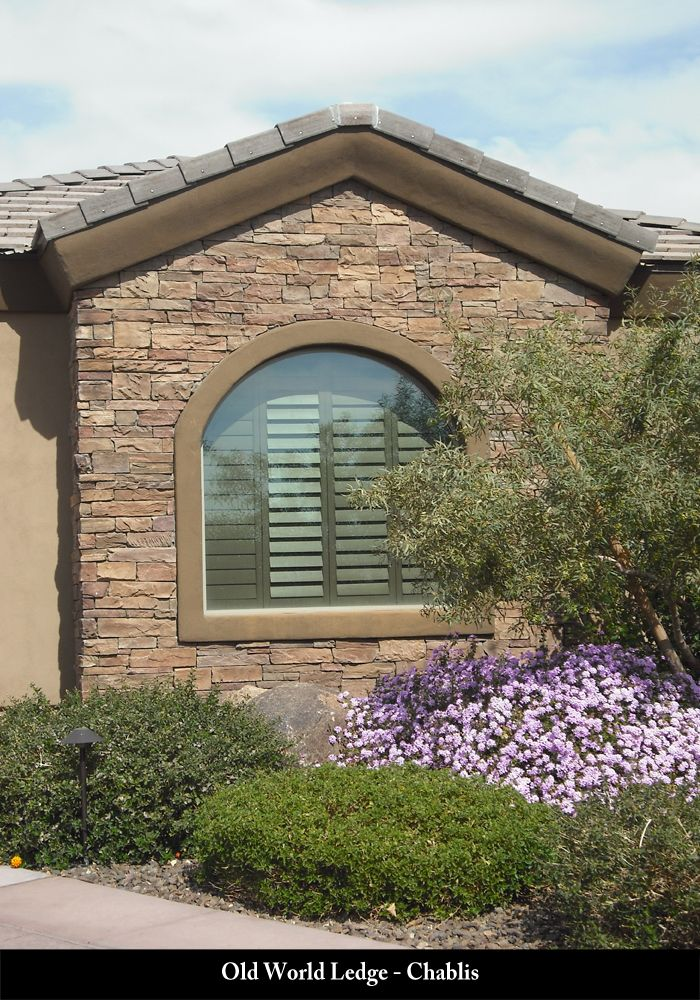 Eldorado Stone Cliffstone Montecito Home Design Ideas Pictures Remodel And Decor: Picture Of Coronado Old World Ledge In The Color Chablis Installed On An Exterior.