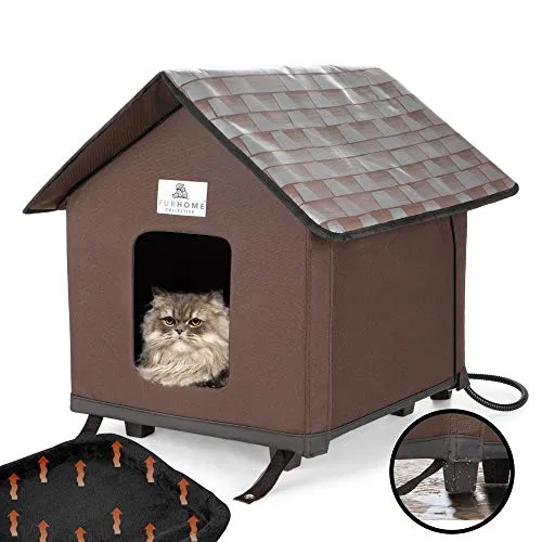 Heated Cat Houses For Indoor and Outdoor Cats, Elevated