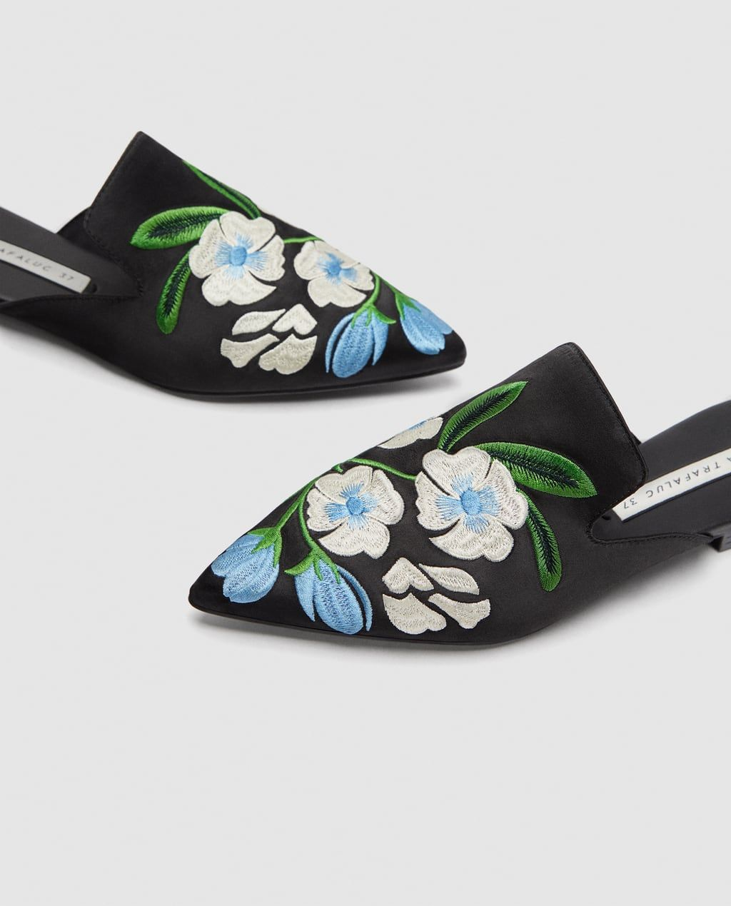 EMBROIDERED MULES-Flats-SHOES-WOMAN   ZARA United Kingdom