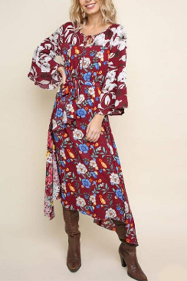 60cdf08d60 Umgee USA Multi-Floral Maxi Dress