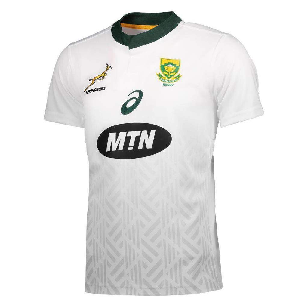 South Africa National Rugby Union Team White Jersey Springboks 2019 Rugby Jersey Rugby Union Teams Rugby Union
