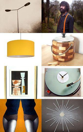 retro style :: treasury by BelleAccessoires.etsy.com :: #retro #style #design #vintage #70s #60s #orange #fashion #home #accessories