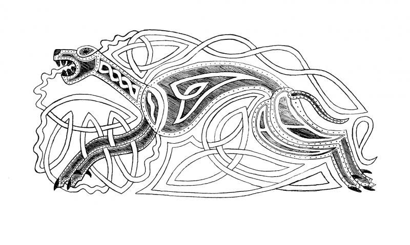 Celtic Hounds X Post In Pen Ink Wetcanvas Celtic Wolf Tattoo Celtic Designs Celtic Knot Tattoo