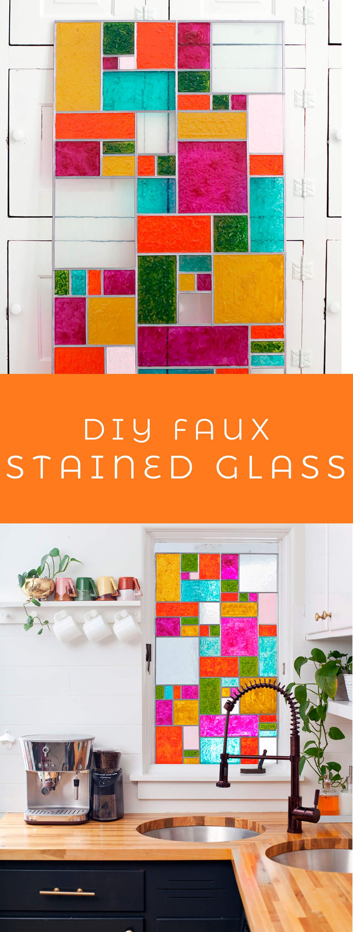 DIY Faux Stained Glass – A Beautiful Mess