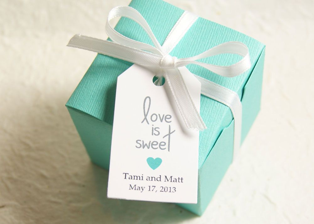 Love Is Sweet Wedding Favor Tag Gift Bridal Shower Personalized