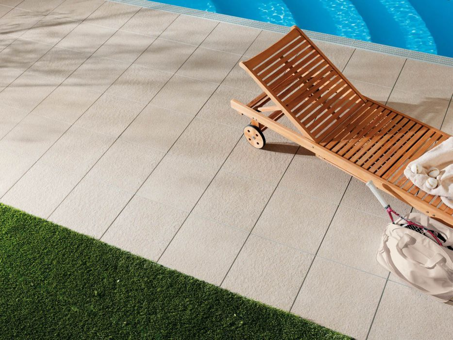 Patio Sable 45x45 Outdoor #terrasse #piscine #carrelage