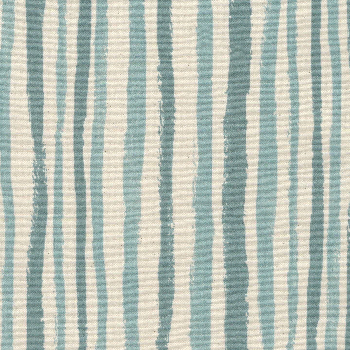 Wandering Stripe in Mineral | Clay McLaurin #textiles #fabric #cotton #stripe #blue