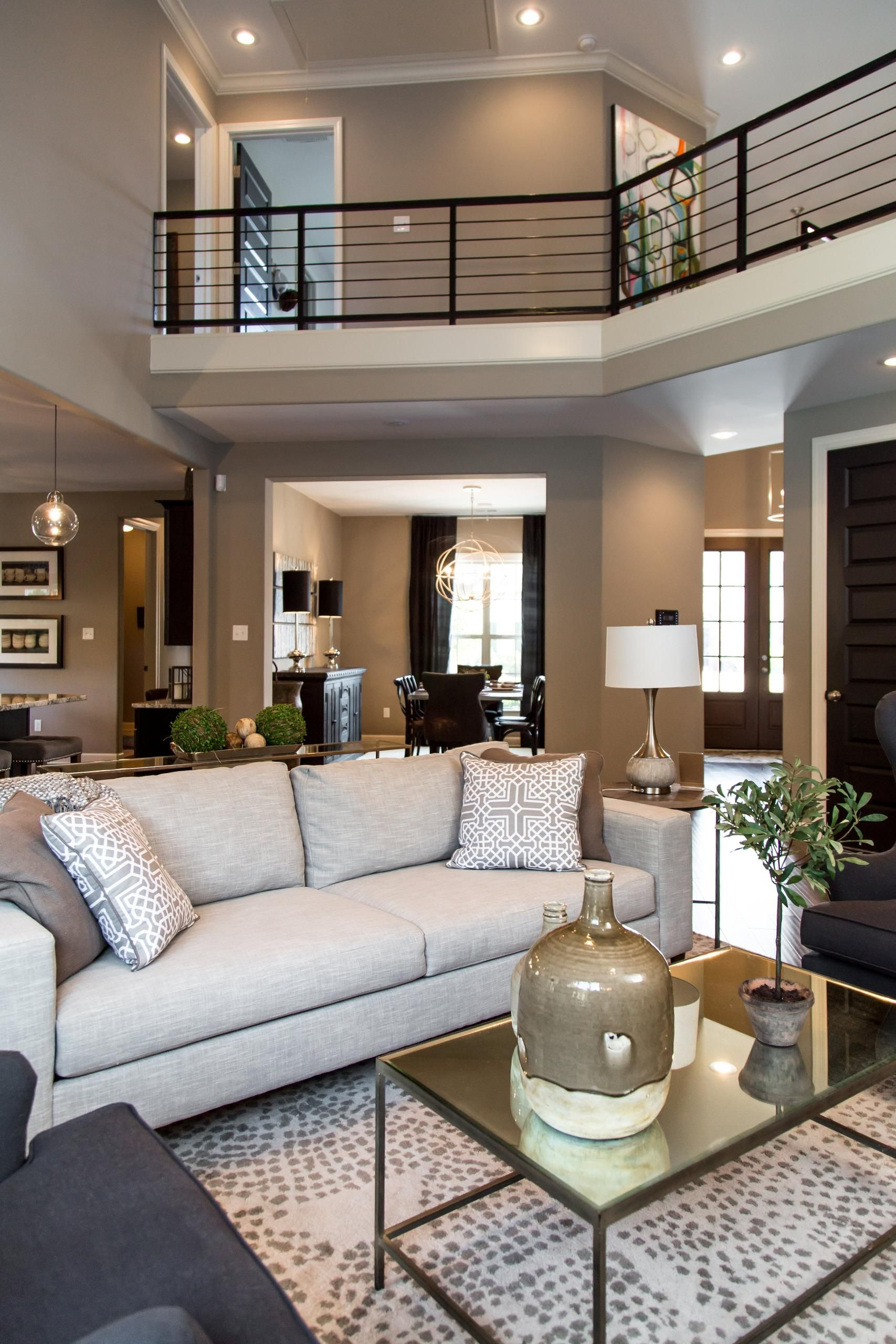 Grays Hollow Lynwood Two Story Great Room Open Living Area Building A House Home Design