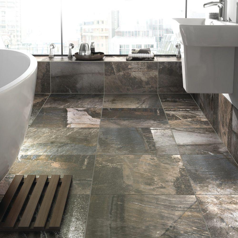 Home And Decor Tile Porada Deep Grey  Tile Flooring  Bathroom Ideas  Home Decor