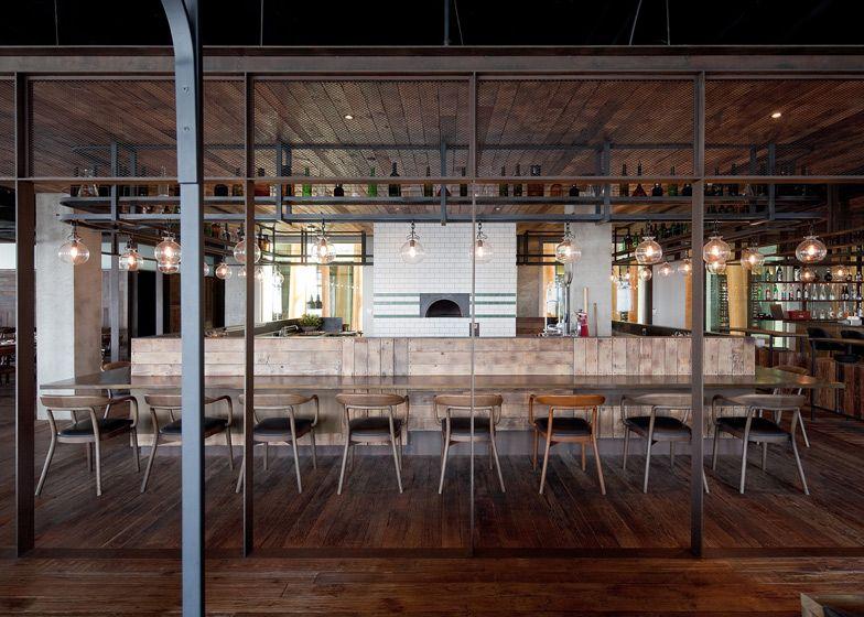 Mercato restaurant at Three on the Bund by Neri
