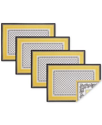 Villeroy Boch Audun 4 Pc Placemat Set Multi Placemats Patterns Villeroy Boch Placemats