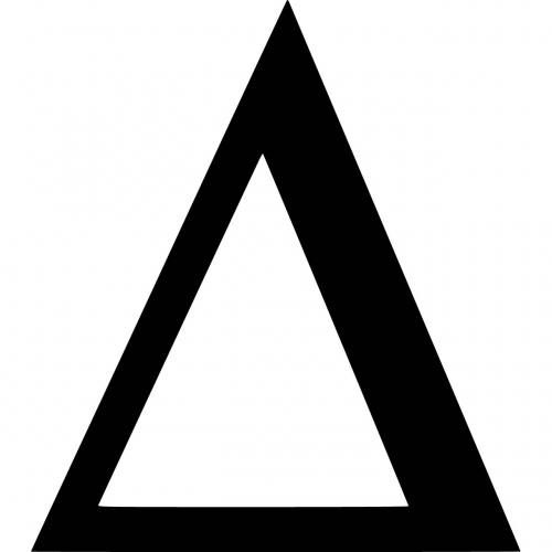 triangular greek letter delta symbol right side of change is right and 42179