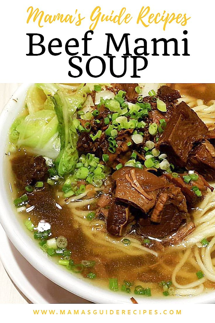 Photo of Loading… BEEF MAMI SOUP INGREDIENTS: 1 lb beef brisket6 pieces star anise1 pie…