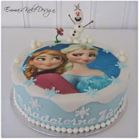 Emmas KakeDesign: Modellert figur av Olaf på Frostkake!