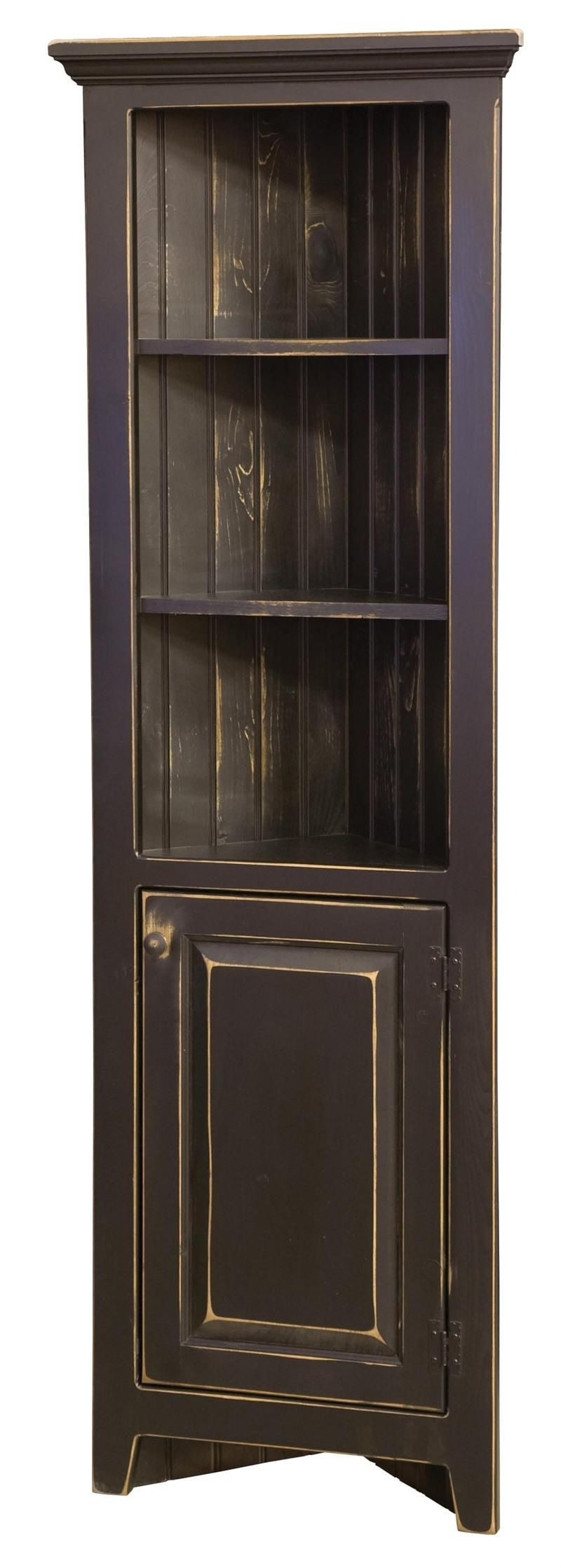 Amish Cabinet Doors Black Corner Cabinet Furniture Home Dining Room Curio