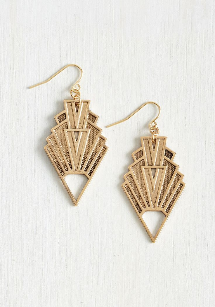 / Highly Deco-Mended Gold Earrings.