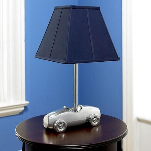 Construction Table Lamp With Matching Night Light Boys