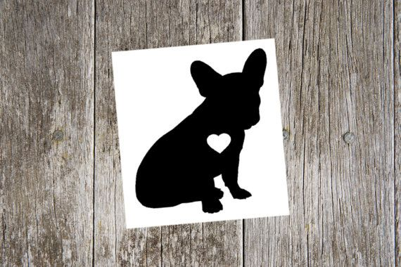 Simple Black Frenchie Silhouette Sticker
