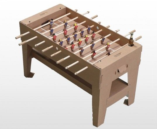 Kartoni The World S First Foosball Table Made From 100 Sustainable Materials Foosball Foosball Table Recycled Toys
