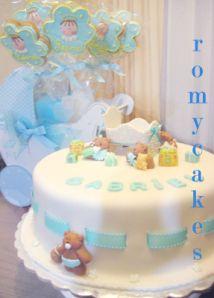 baby shower cake pastel