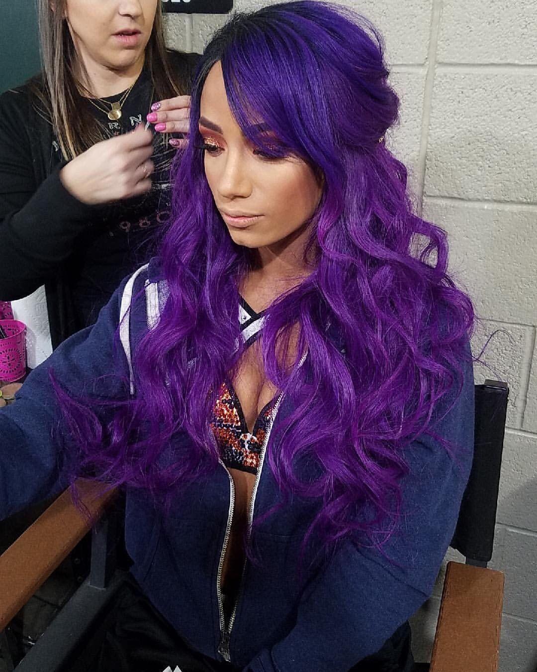 Sasha Banks Long Hair Styles Hair Styles Cute Hair Colors