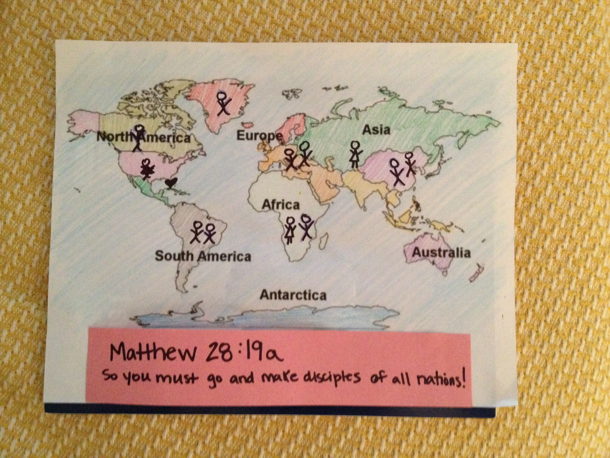 Sunday School Craft On The Great Commission.