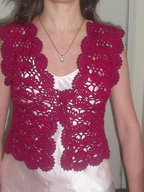 Bolero a crochet con patron | Crochet Patrones Para Ti | crochet en ...
