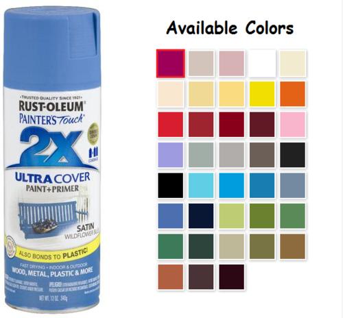 Rust Oleum Painter S Touch 2x Acrylic Spray Paints Satin Blue Spray Paint Spray Paint Plastic Rustoleum Spray Paint Colors